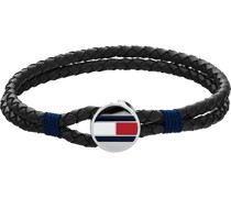 -Herrenarmband CASUAL Leder Schwarz 32012662