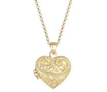 Halskette Herz Ornament Amulett Medaillon Liebe 925 Silber Ketten