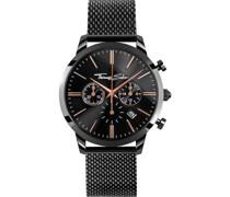 -Uhren Analog Quarz Silber/Schwarz 32002321