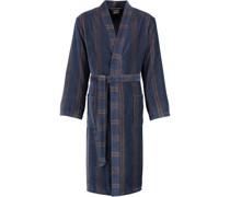 Bademantel Kimono Struktur 2508 blau - 13