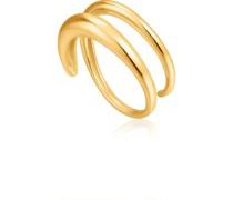 -Damenring Luxe Twist Ring 925er Silber Gold 32014118