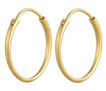 Ohrringe Creolen Ohrhänger Basic Klassik Rund 375 Gelbgold