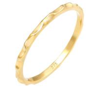 Ring Stacking Facetten Basic Minimal Look 375 Gelbgold