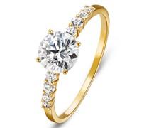 -Damenring 333er Gelbgold 9 Zirkonia 56 32004843