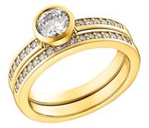 Ring für, Sterling Silber 925 vergoldet, Zirkonia