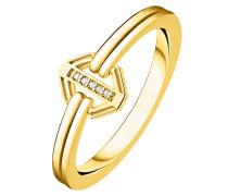 -Damenring 925er Silber Diamant 54 32000452