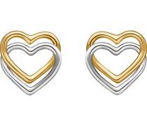 Gold-Ohrstecker 375er Gelbgold, Weißgold One Size 87377652