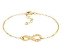 Armband Infinity Symbol Zirkonia Kristall 925 Silber