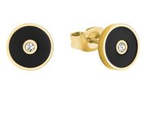 Ohrstecker für aus Edelstahl mit IP Gold und Kristallen von Swarovski® Weiß