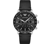 -Chronograph Edelstahl One Size Leder 87756441