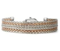 Armband Edelstahl silber/roségold Edelstahlarmband