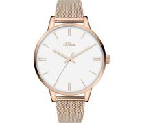 -Uhren Analog Quarz Silberfarben Silberfarben 32012477