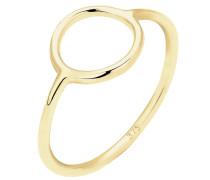 Ring Geo Trend Look Kreis Statement 375 Gelbgold