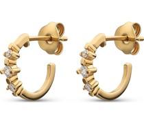Diamonds-Creolen 375er Gelbgold 6 Diamant One Size 87495841