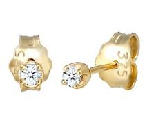 Ohrringe Stecker Basic Diamant (0.03 ct.) 375er Gelbgold