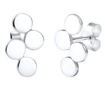 Ohrringe Kreis Geo Minimal Trend 925 Sterling Silber