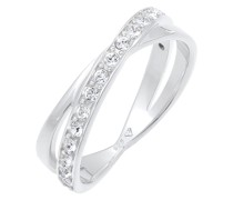 Ring Edel Wickelring Kristalle 925 Silber