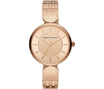 -Uhren Analog Quarz Rosé Edelstahl 32002559