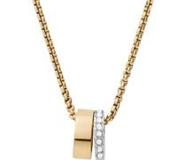 -Kette Edelstahl Glasstein One Size 88237056