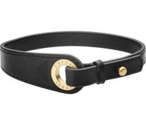 -Herrenarmband Edelstahl/Leder One Size 32012633