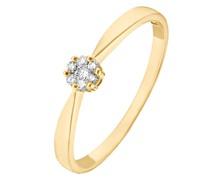 -Damenring 375er Gelbgold 7 Diamant 48 32004575