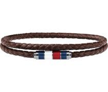 -Armband Leder, Edelstahl Schwarz 32001263 Armbänder & Armreifen