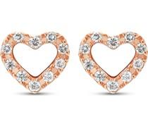 -Ohrstecker 375er Rosegold 20 Diamant One Size 87735214