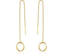 -Ohrhänger Swirl Threader Earrings 925er Silber Silber Silber 32014180