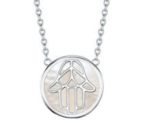 Halskette Hand der Fatima Sterling Silber Perlmutt silber