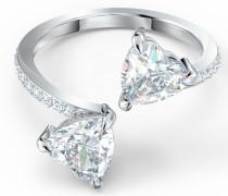 ATTRACT SOUL RING 925er Silber rhodiniert 14 Zirkonia One Size 32012297
