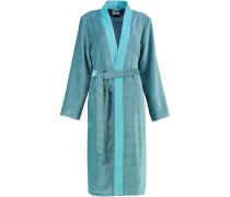 Bademantel Kimono Two-Tone 6431 türkis - 47