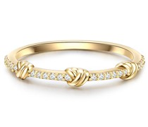 Ring Sterling Silber Zirkonia in Gelbgold