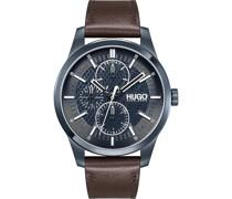 Hugo-Uhren Analog Quarz Schwarz Schwarz 32014319