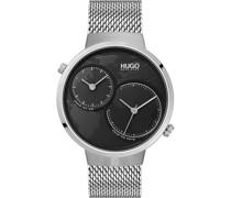 Hugo-Uhren Analog Quarz One Size Edelstahl 87644626