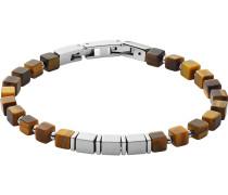 -Armband Edelstahl, Farbstein Grau 32015142