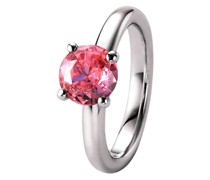 Ring mit rosa Zirkonia, Silber 925 Ringe