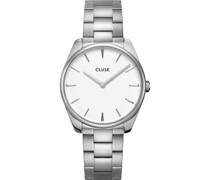 -Uhren Analog Quarz Silberfarben 32012796