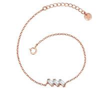 Armband Sterling Silber rosévergoldet Bergkristall