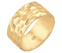 Ring Basic Bandring Gehämmert Trend Cool 925 Silber