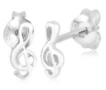 Ohrringe Notenschlüssel Filigran Musik Verspielt 925 Silber