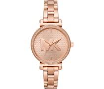 -Uhren Analog Quarz One Size Edelstahl 87595137