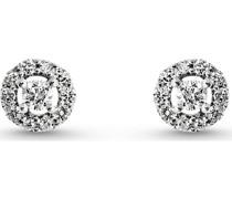 -Ohrstecker 375er Weißgold 22 Diamant One Size 87375307