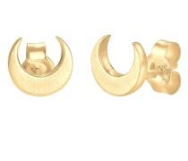 Ohrringe Halbmond Luna Trend Matt 925 Sterling Silber