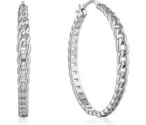 -Creolen Curb Chain Hoop Earrigs 925er Silber One Size 88045581