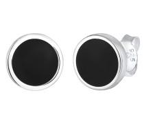 Ohrringe Basic Kreis Geo Emaille 925 Sterling Silber
