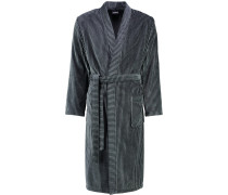 Bademantel Kimono Streifen 4807 graphit-schwarz - 79