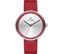 -Uhren Rund Analog Quarz One Size Leder 32003315