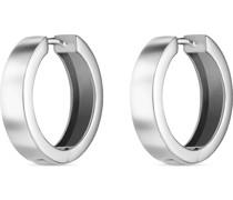 -Creolen 925er Silber rhodiniert One Size 87679446