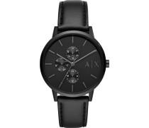 -Uhren Quarz Schwarz Leder 32012061
