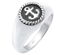 Ring Siegelring Anker Anchor Maritim Oxid 925er Silber